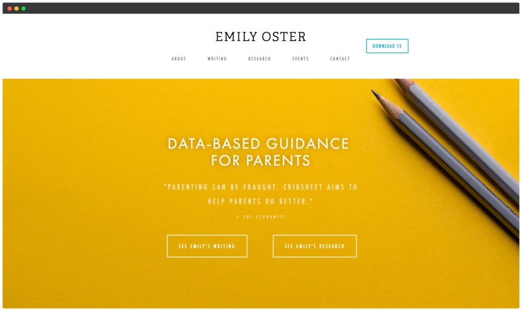 Emily Oster Screenshot